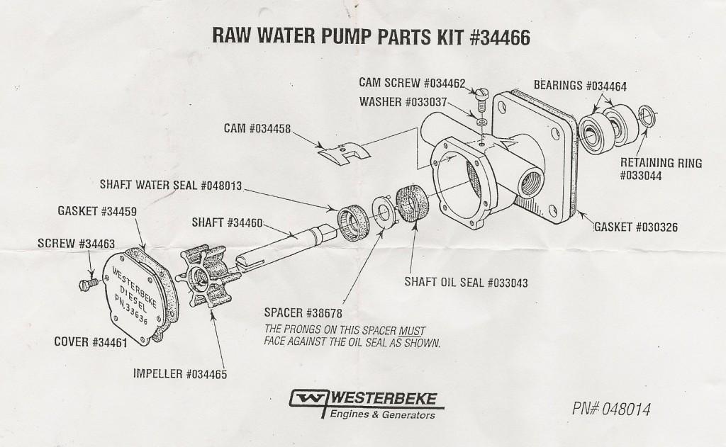 Westerbeke 42b Raw Water Pump Seal Failure