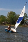 Bob Bierly passes his dinghy to new generation