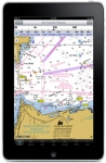 iPad with Navionics app